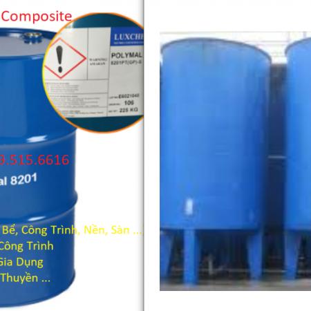 Bồn Bể Composite, Bọc Phủ Chống Thấm Công Trình Nhà Xưởng Giá Tốt, Nhựa composite polyester