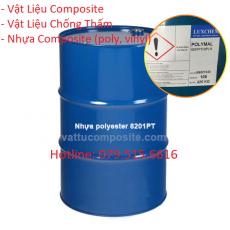Nhựa 8201, Keo Composite Polyester – Poly Hồng 8201 – Vật Liệu Composite Chống Thấm Bọc Phủ Công Trình Nền, Sàn, Bồn Bể, Tàu Thuyền