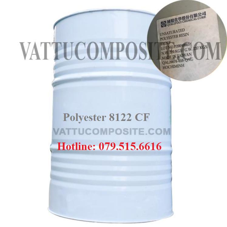Nhựa Polyester 8122 CF – Keo Composite 8122 CF – Vật Liệu Composite Bọc Phủ, Chống Thấm Công Trình, Nền, Sàn, Bồn Bể, Tàu Thuyền