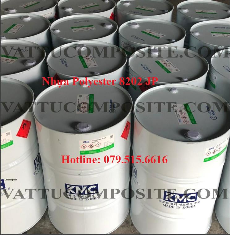 Nhựa Composite Polyester 8202 JP – Keo Polyester 8202 – Vật Liệu Composite Chống Thấm Bọc Phủ Công Trình, Bồn Bể, Tàu Thuyền
