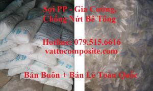 Sợi PP Gia Cường, Chống Nứt Bê Tông Nhẹ, Gạch - Sợi tổng hợp polypropylene