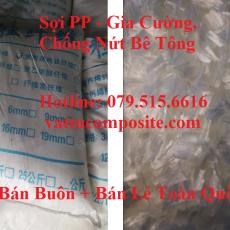 Sợi PP, Sợi Gia Cường Bê Tông, Chống Nứt Bê Tông, Sợi tổng hợp polypropylene - Sợi PP