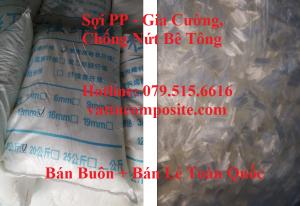 Sợi PP Trộn Bê Tông - Sợi Gia Cường Bê Tông, Chống Nứt Bê Tông - Sợi tổng hợp polypropylene