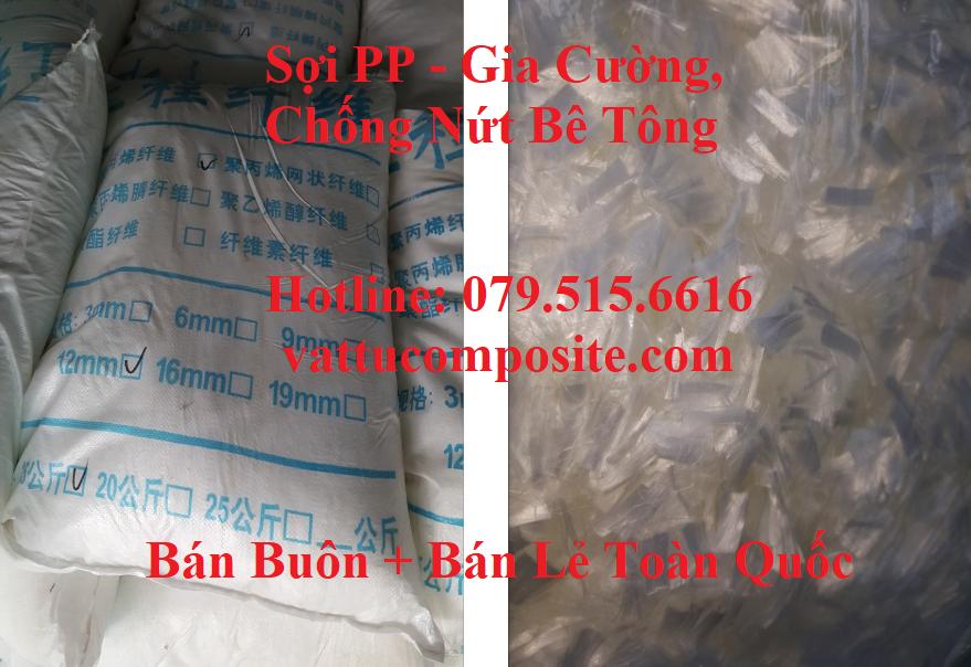 Sợi PP, Sợi Gia Cường Bê Tông, Chống Nứt Bê Tông, Sợi tổng hợp polypropylene – Sợi PP